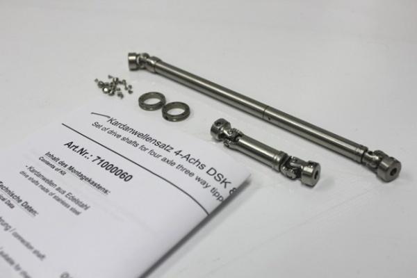 Cardan shaft set 4-axle three-way tipper