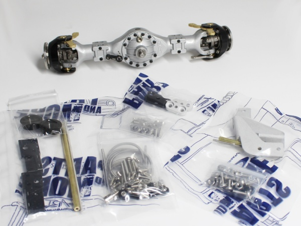 Rear axle differential with second output 3:1 Tamiya variant