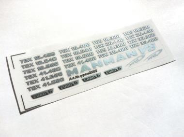 Type sticker MAN TGS / TGX