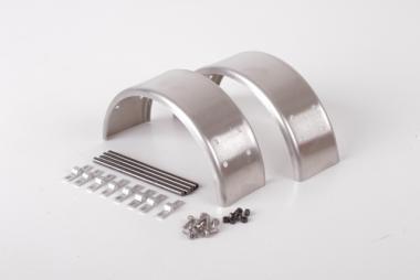 Aluminiumkotflügel für 1 Achse, schmal für Singlebereifung, blank