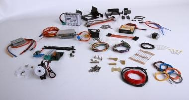 Electronics set for tipper semitrailer