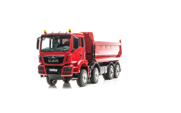 MAN TGS 4-axle halfpipe tipper Euro 6 with all-wheel drive