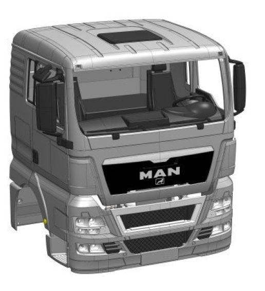 Cab MAN TGX-XL Euro 5 kit