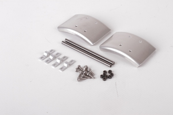 "Aluminum fenders 1/2, narrow for single tires, ""blank"""