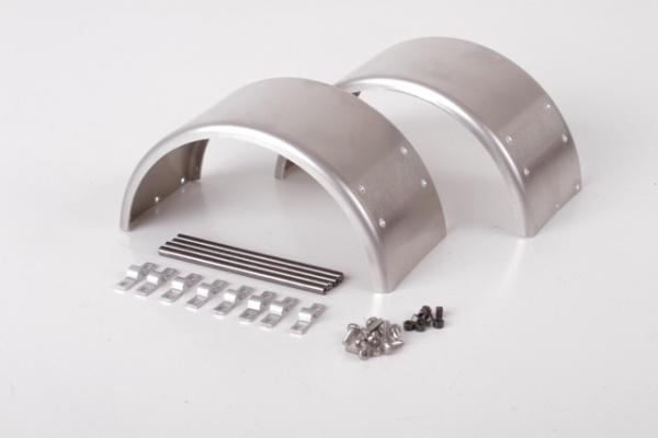 Aluminiumkotflügel für 1 Achse breit, blank