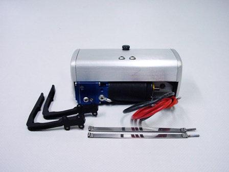 Hydraulic pump 240 ml with tank (short), silver